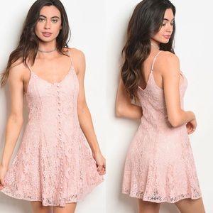 Dresses & Skirts - NWT $75 Lace Skater Cami Mini Dress free people